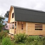 Дом сруб из бруса 6х8 с установкой в Бобруйске