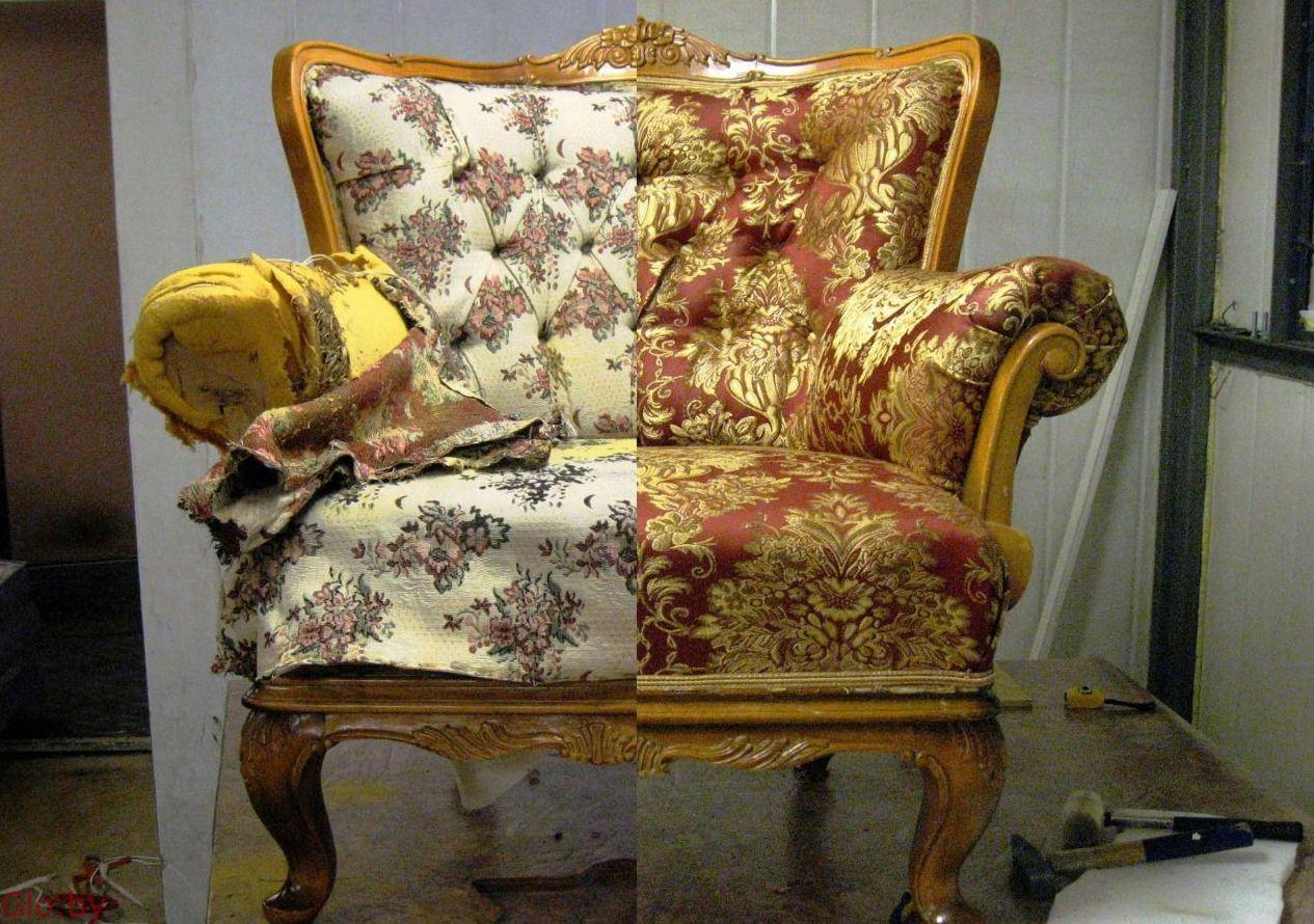 Ремонт обивка перетяжка мягкой мебели у Вас на дому.
