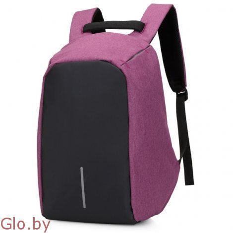 Рюкзак Bobby с защитой от карманников розовый.