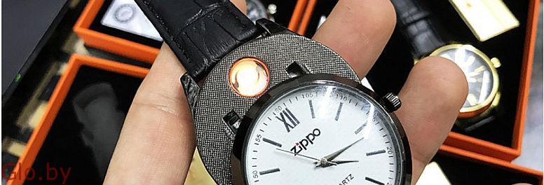 Часы-зажигалка Zippo мужские новые.
