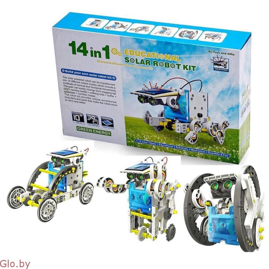 Робот-конструктор Solar 14 в 1 на солнечной батарее!