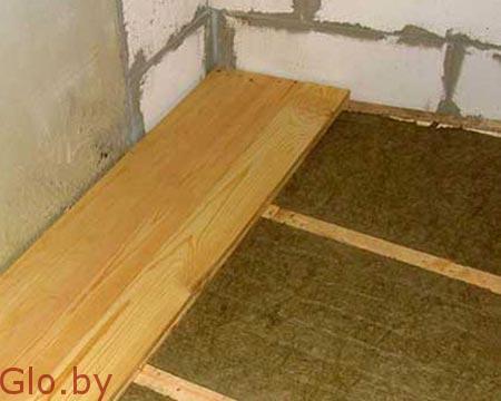 Монтаж деревянных полов с утеплением Несвиж и район