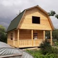 Отличный Дом для дачи сруб из бруса 6х8 с установкой