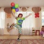 весёлый клоун Бублик на день рождения,детский праздник,торжество